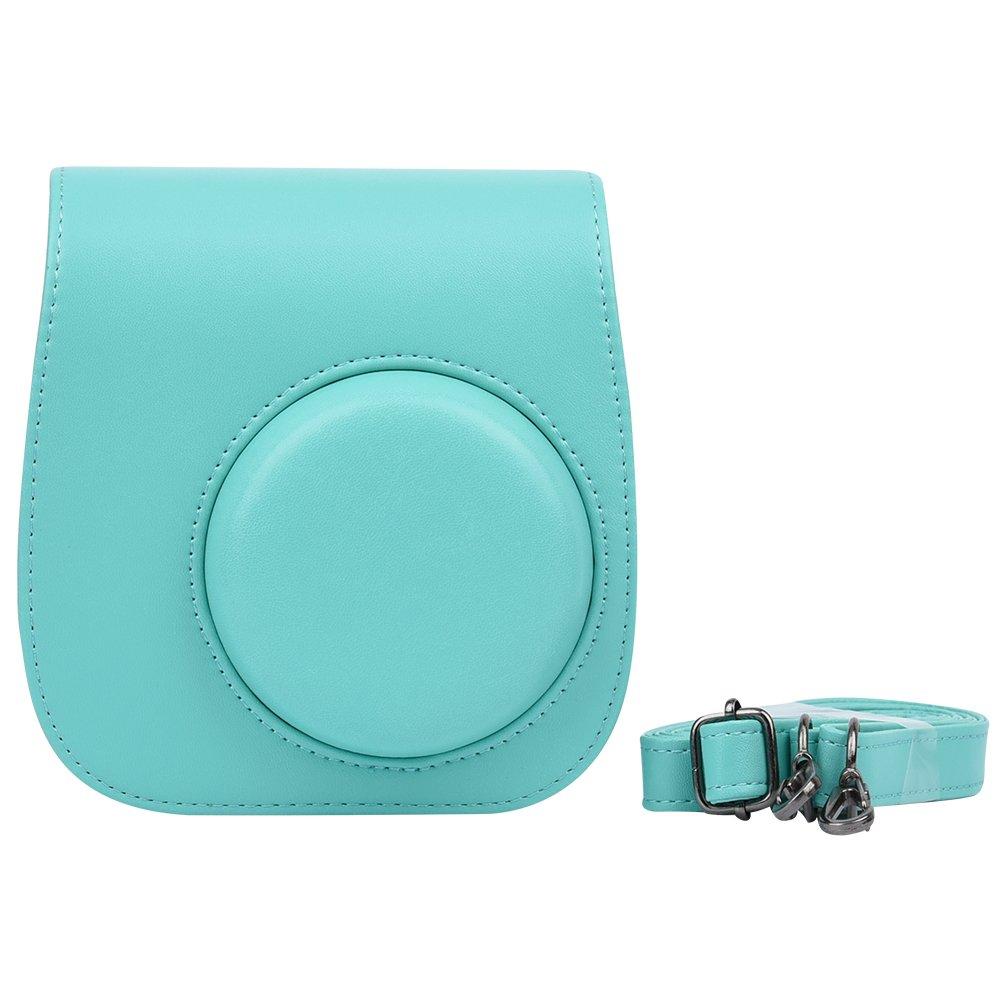 Custodia protettiva a borsetta con tracolla per fotocamere istantanee Polaroid e Fujifilm Instax Mini 8 8+ e 9 in pelle sintetica