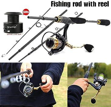 Carrete caña Pescar Combos 4 Secciones M Power Fishing Rod 13 + ...
