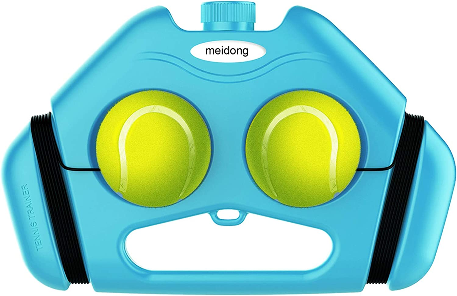 meidong Tennis Trainer 2 Rebound Balls Anti-Tangle Cord Anti-Slide Baseboard Springen Tennis Trainer Tennis Rebounder Tennis Self Training Tool (Blue) : Sports & Outdoors