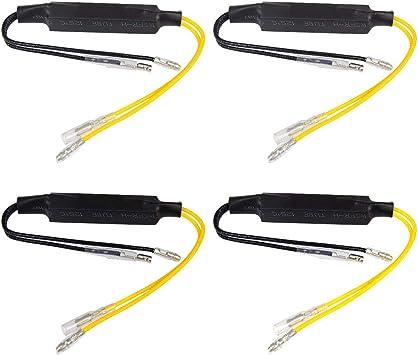 Ofnmy Motorrad Blinker Widerstände 12v 27w Resistor Adapter Für Motorrad 4 Stück Auto