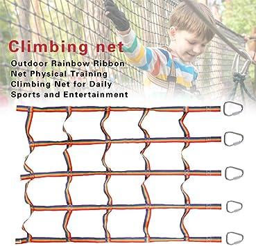 Ninja Climbing Net Playground Climbing Net Nylon Rainbow Climbing Frame Net Warrior Cargo Net Indoor//Outdoor Treehouse Kids Playing