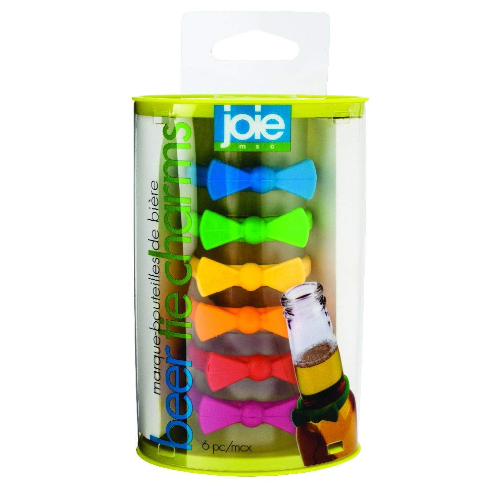 Joie 6 Piece Beer Tie Charms, Multicolor