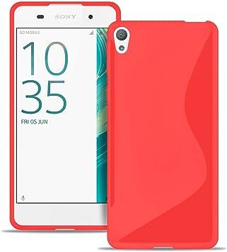 Estuche Ultra Delgado para Sony Xperia E5 El | En Rojo | Funda De Línea S: Amazon.es: Electrónica
