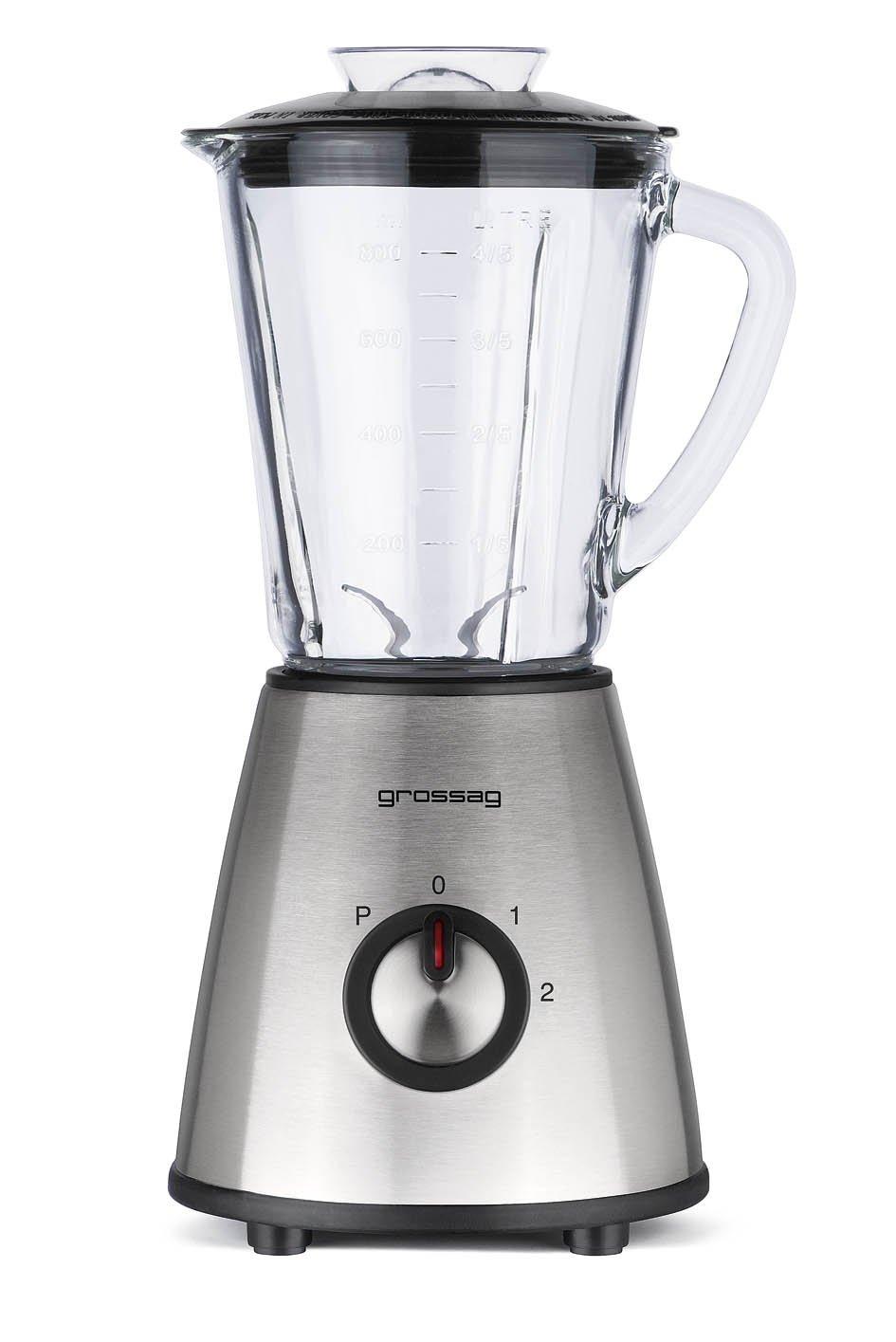 Grossag MX 14 - Licuadora con jarra de cristal (acero inoxidable ...