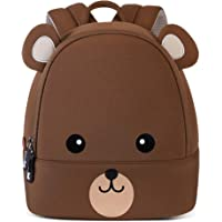 NOHOO Toddler Backpack Kids Backpack Cute Animal Bagpack Waterproof Zoo Backpack for Baby Boy and Girl Age 2 to 7 (Bear, Small for Age 1-2)
