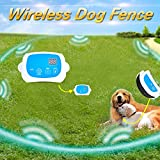 Portable Wireless 2 Dog Fence, NO WIRES TO BURY-800FT Containment System, The 3nd Greneration, DT-WLJK3
