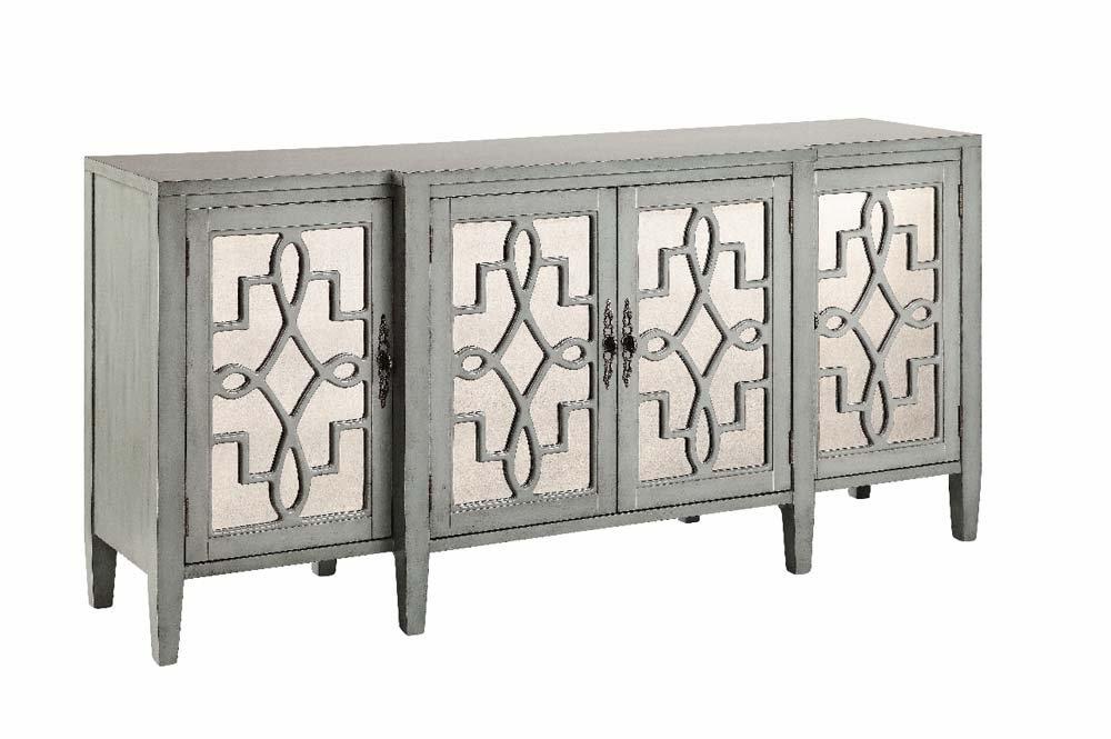 Delightful Amazon.com   Stein World Furniture 4 Door Mirrored Credenza, Sage Gray    Buffets U0026 Sideboards