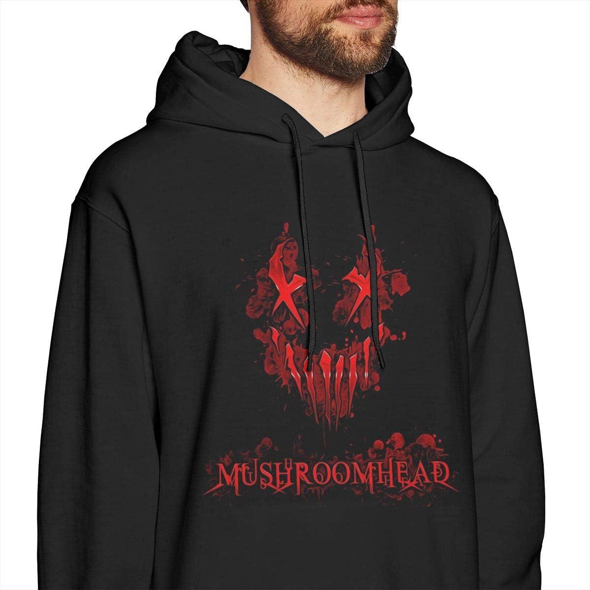 HorseTe Men Sweatshirts Casual Mushroomhead Logo Mens Sweater Black