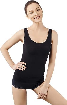 Sleeveless Body Shaper Tummy Control Camisole LISH Womens Slimming Light Compression Tank Top