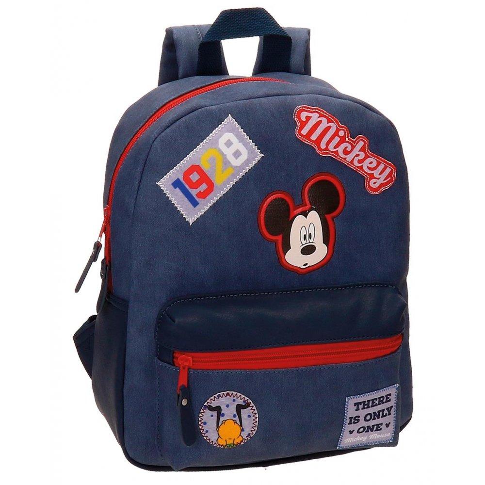 Disney Mickey Maus Parches Rucksack Casual für den Kindergarten die ALS Snack Halt