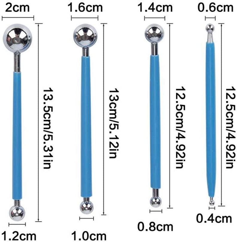Dotting Tools Set 25PCS with Storage Bag Handle Ball Stylus Rod Stencil Tray Mandala Rock DIY Package