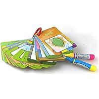 بطاقات كتاب الرسم بألوان المياه مكون 26 قطع للأطفال في التعليم المبكر، بطاقات المعرفية 1-9، عدد الألوان والأشكال، لوحة…