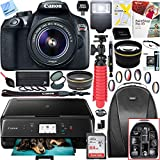 Canon EOS Rebel T6 Digital SLR Camera with EF-S 18-55mm IS II Lens and Canon Pixma MG3620 Wireless Inkjet All-In-One Multifunction Photo Printer 64GB Accessory Bundle For Sale