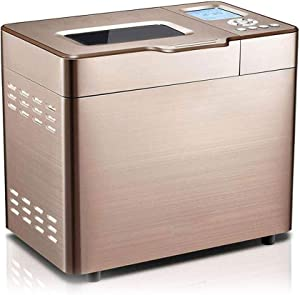 Home Oven Bread Machine Blender Stainless Steel Automatic with Yeast Dispenser Programmable Gluten Free Setting 13 Hours Delay Timer Power Off Memory Function