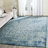 Cheap Safavieh EVK256C-1218 Evoke Collection Area Rug, 12′ x 18′ , Blue/Ivory