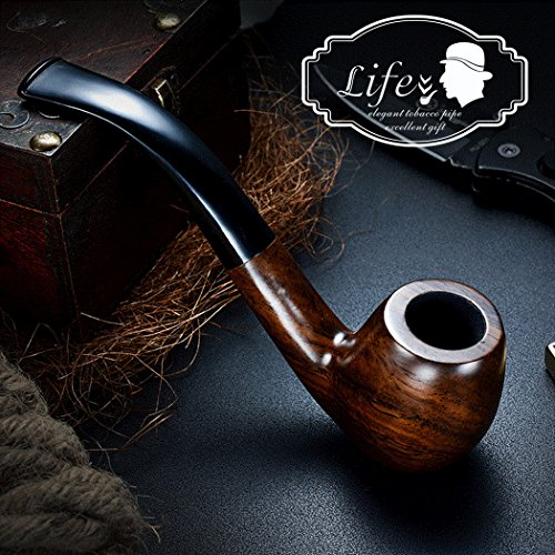 LifeVV Tobacco Pipe Ebony Wooden Smoking Pipe With Accessories And Gift Package Wooden Tobacco Smoking Pipe