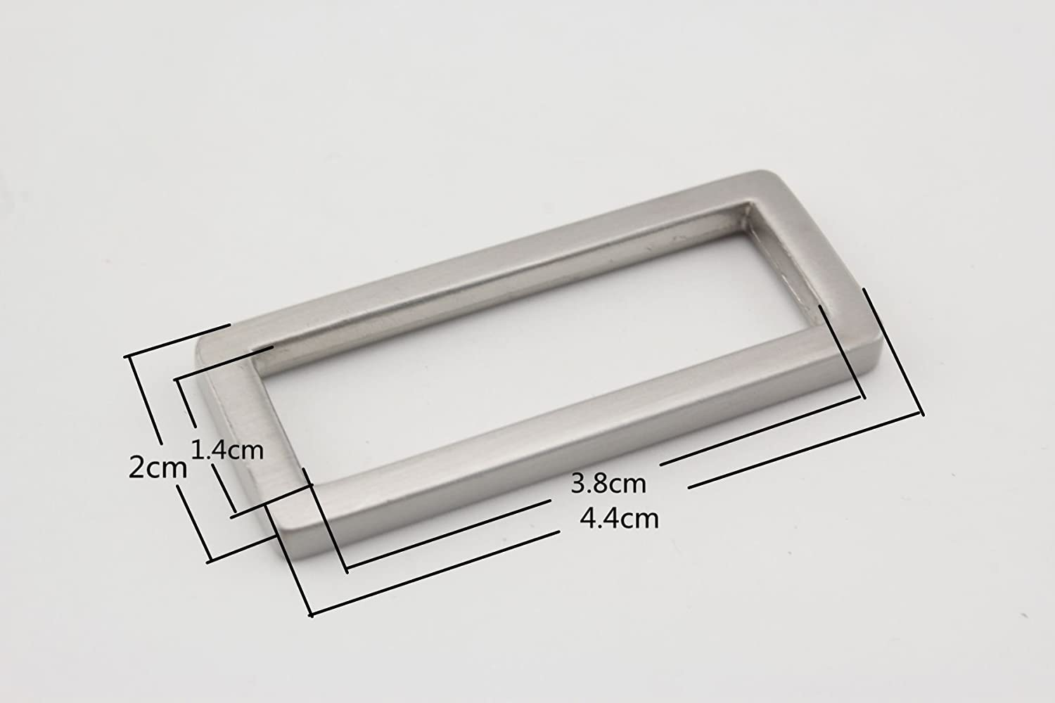 1.5 Inch. Nickel Rectangle Rings inner 10 Pieces Purse Making Accessories 38 mm.3.8 cm.