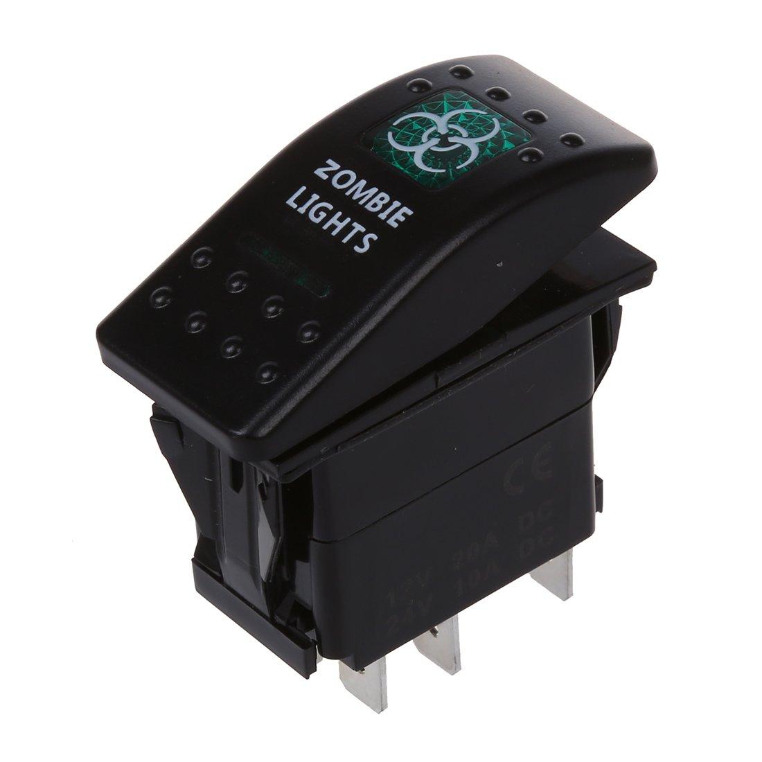 Interruptor de palanca - SODIAL(R)12VC AR barco marino RV interruptor basculante de palanca de LED luz de trabajo de antiniebla trasera ON-OFF luces de zombi 062334A8