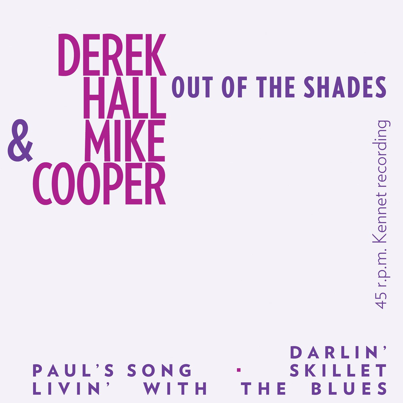 Vinilo : MIKE COOPER & DEREK HALL - Out Of The Shades (7 Inch Single)