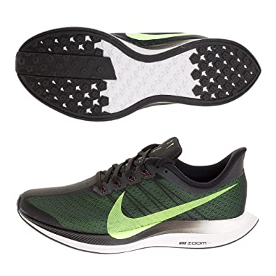 best service 069bc 9b44e Nike Men's Air Zoom Pegasus 35 Turbo Running Shoes (9, Black/Lime)
