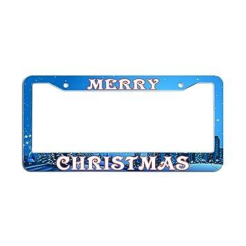 Amazon.com: Dasokao MERRY CHRISTMAS - License Plate Frames Plastic ...