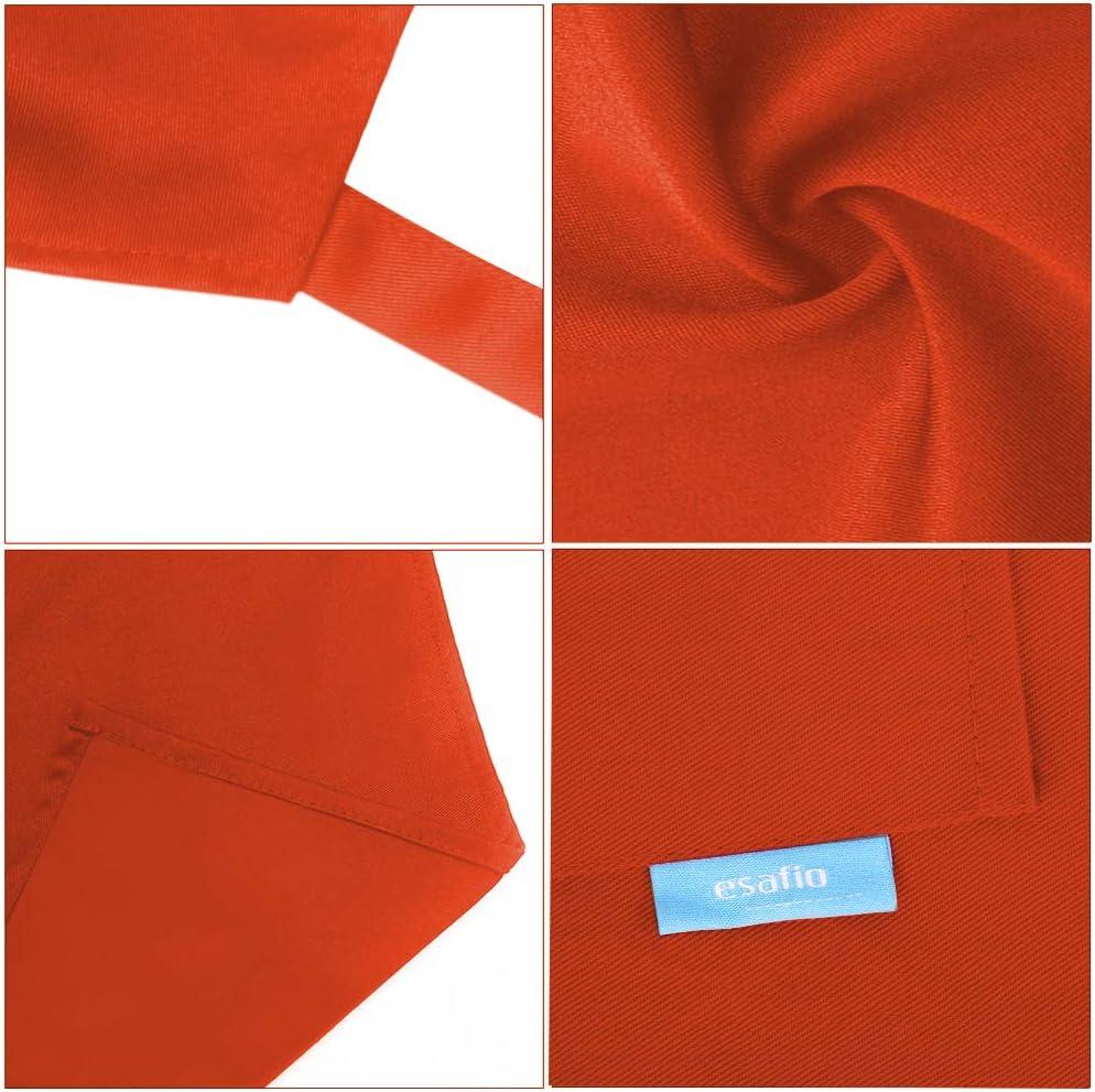 2pcs Blue 70 x 25cm /… Poliestere Cotone esafio Grembiule da Cucina in Cotone e Poliestere con Cintura Regolabile e 2 Grandi Tasche per Uomini e Donne