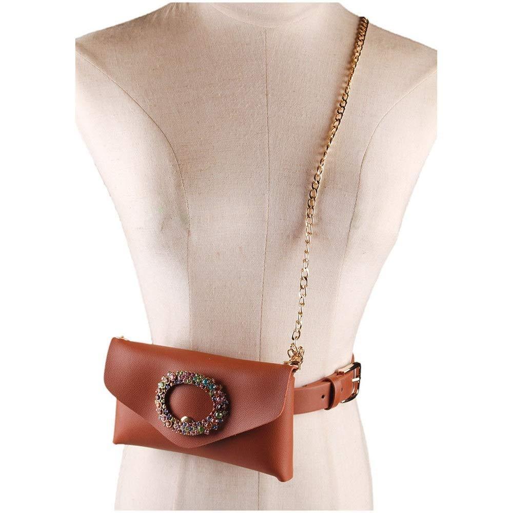 Bestehen Bestehen Bestehen Sie immer auf Erfolg Damen Elegante Leder Gürteltasche Damentaschen Kristallkranz PU-Taschen mit Metallkette abnehmbare Gürteltaschen Outdoor-Reisesporttasche Damen Mini Geldbörse B07PYFH8WL Daypacks Offizielle Webseite 9698ea