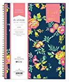 "Day Designer for Blue Sky 2017-2018 Academic Year Weekly & Monthly Planner, Twin-Wire Bound, 8.5"" x 11"", Navy Floral"