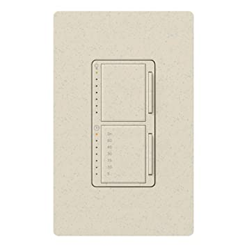 Lutron MA-L3T251-LS Maestro 300 Watt Single Pole Dimmer And Timer Switch,
