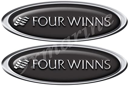 Amazon com: Two Four Winns Boat Oval Decals/Stickers 15