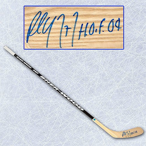 Paul Coffey Signed Sherwood Player Model Hockey Stick with HOF Inscription - Autographed Hockey Pucks (Autographed Hockey Stick Merchandise)