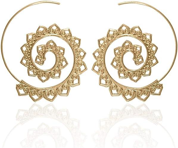 Fashion Punk Geometry Chunky Double Circle Metal Ear Stud Earrings Women Jewelry