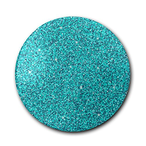 Ceramic Coaster, Personalized Gifts Aquamarine Blue Glitter Glass Cup Holder Coffee Mug Place Mats Absorbent Stone Coasters For ()