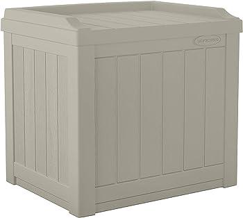 Suncast SS601 22 Gallon Deck Storage Box With Seat