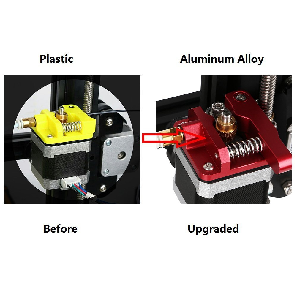 Sumje CR-10 Extruder Upgraded Replacement Aluminum MK8 Extruder Drive Feed 1.75mm for Creality CR-10 CR-10 S4 Left Hand Version CR-10S and CR-10 S5
