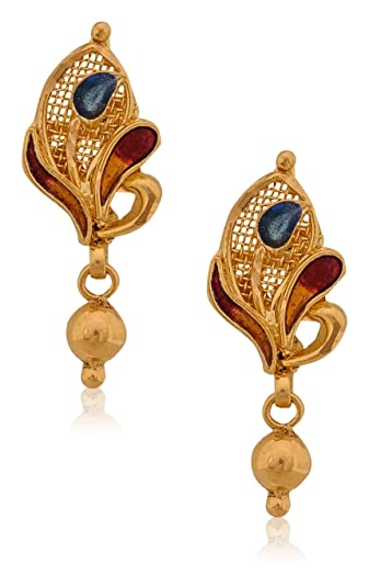 Buy Senco Gold 22k Yellow Gold Drop Earrings line at Low Prices