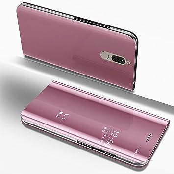 Espejo Funda Huawei Mate 10 Lite Carcasa Libro de Cuero PU ...
