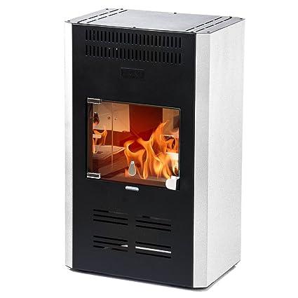 Divina Fire Stufa a bioetanolo ventilata bianca 3000W riscaldamento ...