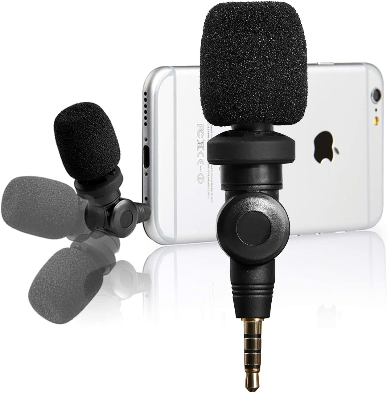 Amazon Com Flexible Condenser Microphone For Iphone 11 Vlog Saramonic Mic With High Sensitivity For Apple Ios Iphone X 8 7 6 Ipad Podcast Youtube Facebook Livestream 3 5mm Trrs Musical Instruments