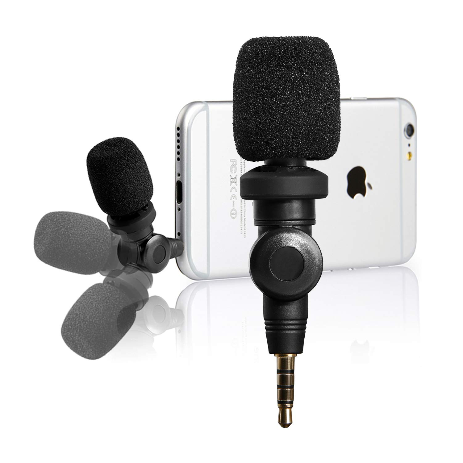 Saramonic Flexible Microphone with High Sensitivity for Apple iOS iPhone X  8 7 6 iPad Podcast Vlog YouTube Facebook Livestream (3 5mm TRRS)