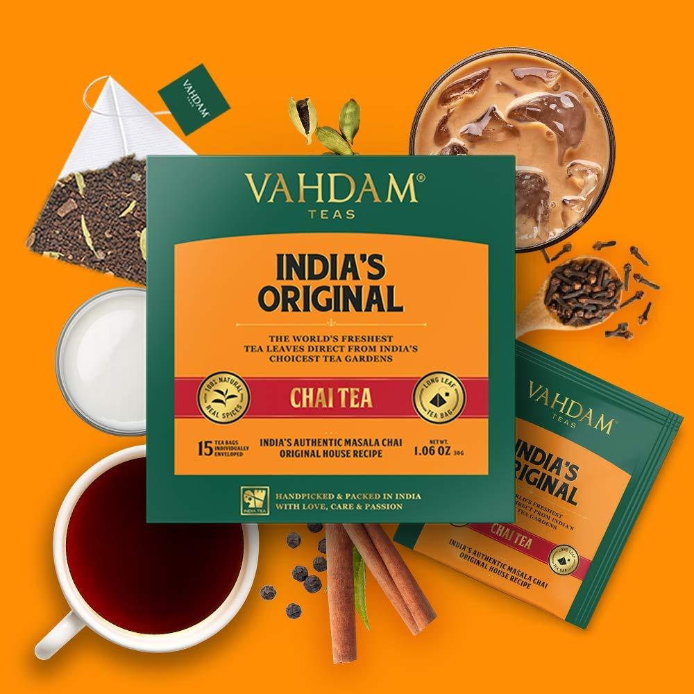 Blended & Packed in India - Black Tea, Cardamom, Cinnamon, Black Pepper & Clove