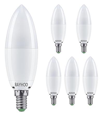 Rayhoo E14 Bombillas de vela LED, 12 W, 100 W, equivalente a bombillas
