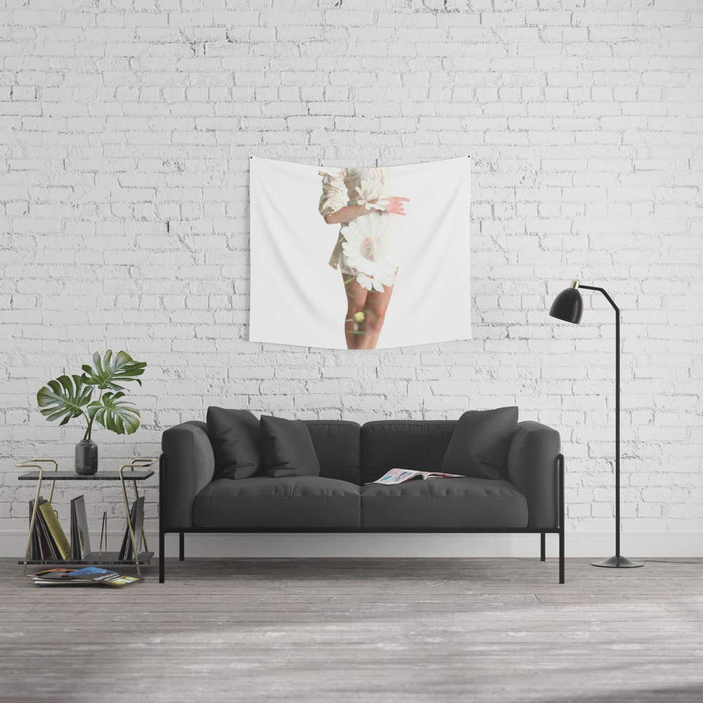 Society6 Wall Tapestry, Size Small: 51'' x 60'', Daisy Dance by bryonyeloise