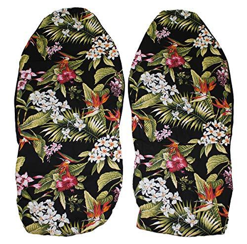 Hawaiian car seat cover, Hibiscus Flower, Set of 2 Front Bucket Seat Covers, Made in Hawaii - Wheel Hawaiian Steering New Car