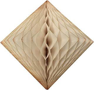 product image for 3-Pack 12 Inch Honeycomb Diamond Decoration (Vintage Ivory - French Vanilla)