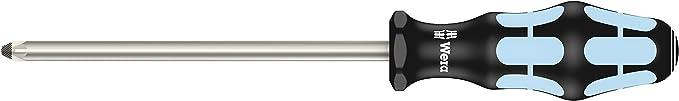 Wera Kraftform Plus 3355 en acier inoxydable Tournevis Pozidriv Tip PZ1 x 80 mm