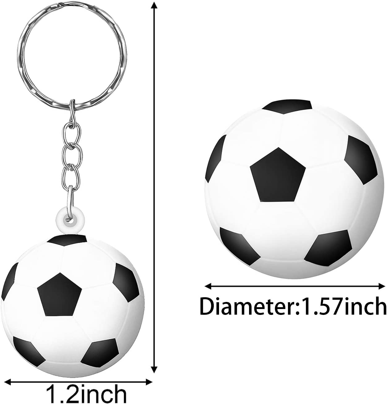 30 Piezas Mini Pelotas de Soccer Bola de Tensión Llavero con Balón ...
