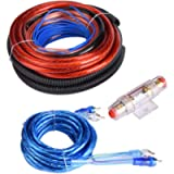 KIMISS 4 Guage 2800W Car Audio Subwoofer Amplifier Speaker Installation Wire Cable Kit [Fuse Suit]