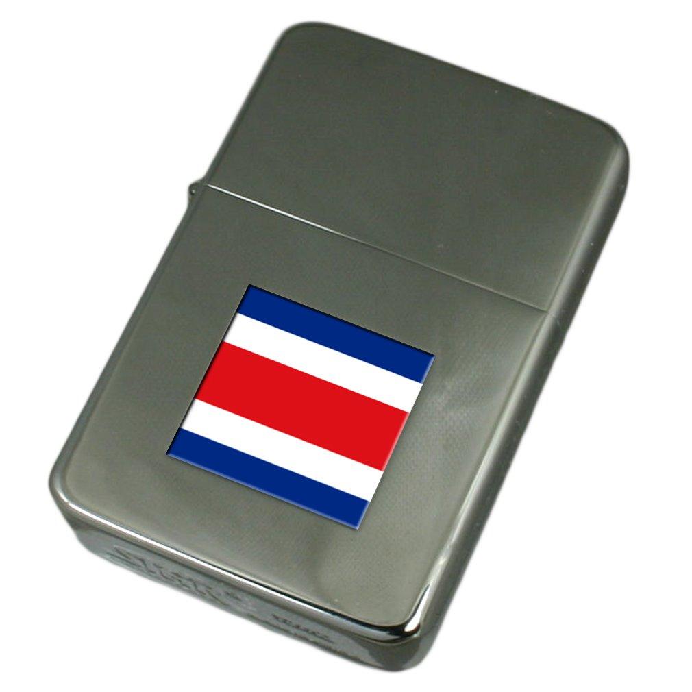 Engraved Lighter Costa Rica Flag