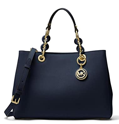 9b807ae5a7ee Image Unavailable. Image not available for. Color  MICHAEL Michael Kors  Cynthia Medium Saffiano Leather Satchel ...